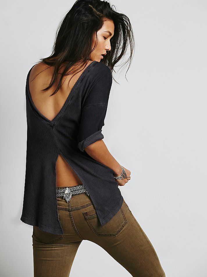 Free People LA Livin Timewarp Tee, $78.00. This would be so easy to make out of another low back top.