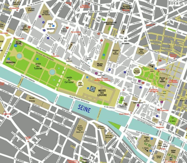 Paris, France - 1st arrondissement (Louvre) map. See: The ...