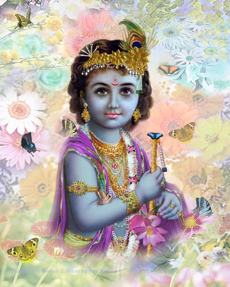A gorgeous print of Baby Krishna - available in several sizes