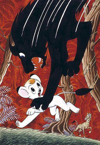 Title page for Jungle Emperor (Jungeru Taitei) by Osamu Tezuka, 1966