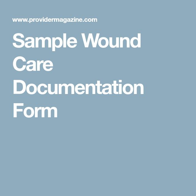 Sample Wound Care Documentation Form