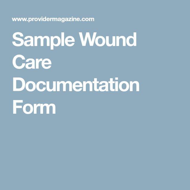 Sample Wound Care Documentation Form
