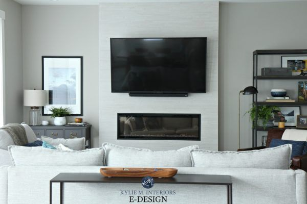 Sherwin Williams Collonade Gray In Living Room Kylie M Interiors Edesign Tv Living Room Decor Fireplace Sherwin Williams Collonade Gray Best Gray Paint Color