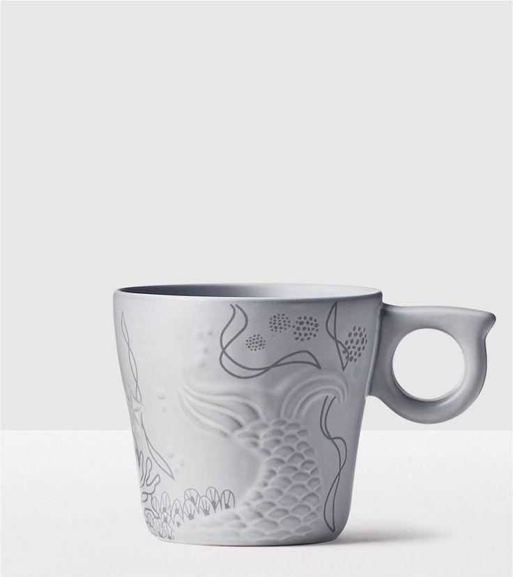 I mean, look at this handle! -Anniversary Siren Tail Mug Starbucks Holiday Drinkware   Starbucks® Store