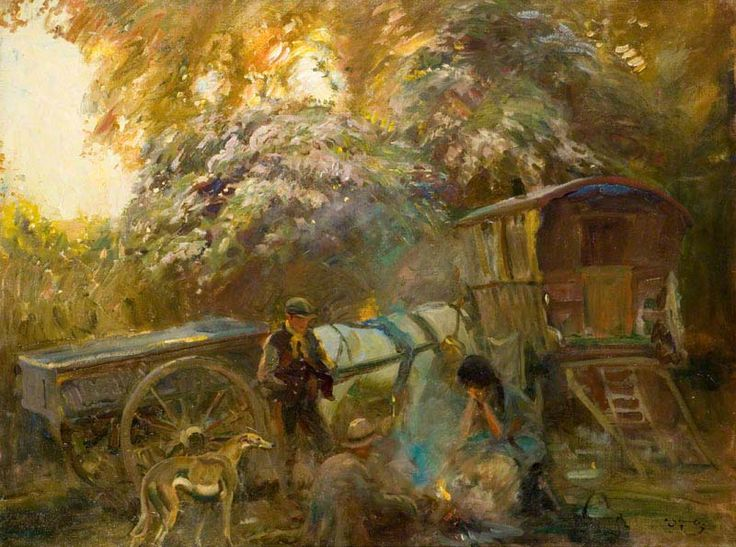 BBC - Your Paintings - A Gipsy Campfire | Sir Alfred ...