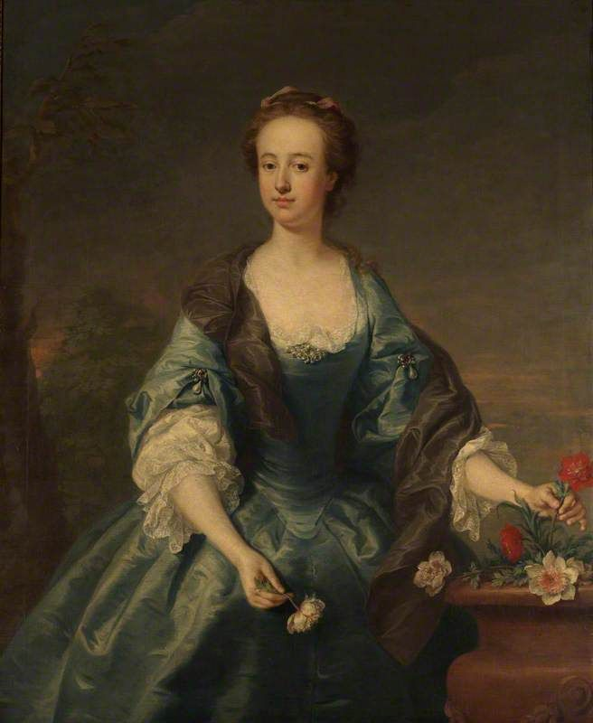 Anne, née Waller, Lady Stapylton   by Andrea Soldi                       Date painted: c.1738