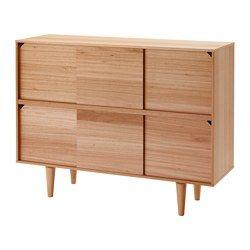 IKEA - TILLFÄLLE, Armoire, Ouvertes ou fermées, les portes coulissantes occupent le même espace et vous permettent de montrer ou de cacher vos objets.Pieds hauts ; permettent de passer facilement l