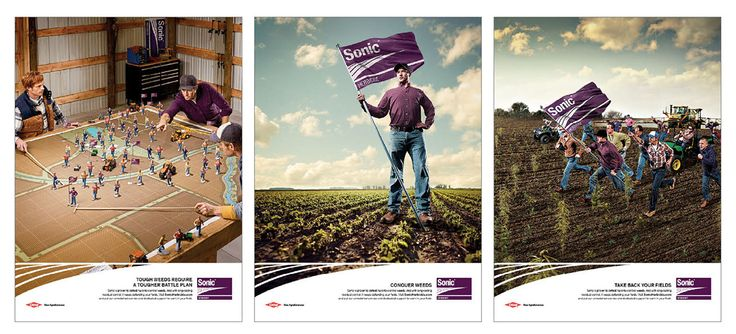 To extend a creative campaign that depicted farmers charging into battle in their fields, we went into the generals' war room – depicting the features and benefits that aided these growers in their struggle against weeds.