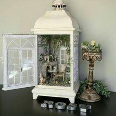 Fairy doll house in a lantern