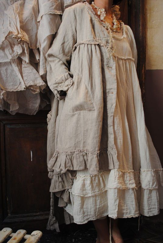 mlle albertine ma robe en lin cru et ma petite veste en lin rose poudr linen clothing. Black Bedroom Furniture Sets. Home Design Ideas