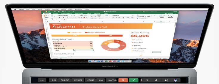 MacBook Pro : Microsoft propose une première version test dOffice avec le support de la Touch Bar