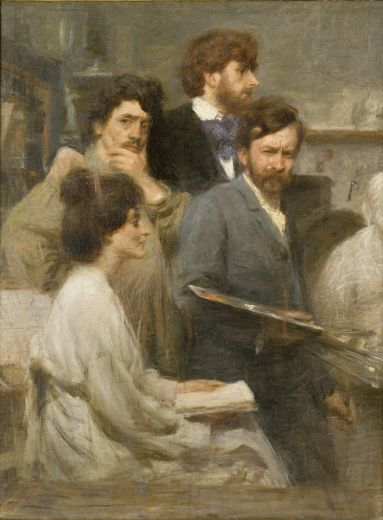 Giacomo Balla - Nello specchio - 1902