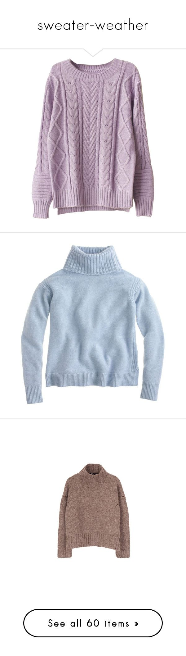 """sweater-weather"" by homingpigeon on Polyvore featuring tops, sweaters, shirts, jumpers, purple, purple jumper, shirt sweater, chunky cable knit sweater, purple shirt and purple cable knit sweater"