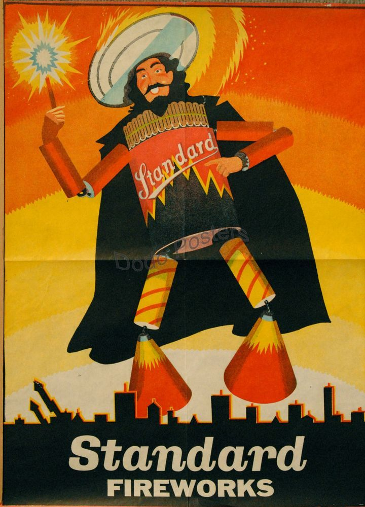 Standard Fireworks poster, 1950s.