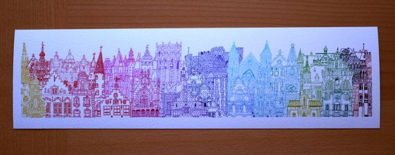 Belgium Towers print by cheism on Etsy, $35.00