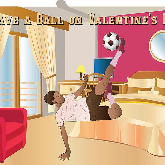 Who else knows a girls #soccer player who likes to play around with the ball in her room?  This is the perfect #ValentinesDay card for her! Available in (3) versions. $3.00. #giftideas
