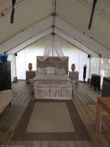 I don't usually camp, but when I do, I do it in style! Inside a Comfort Camping tent at Dinosaur Provincial Park, a UNESCO World Heritage Site in Southern #Alberta. #explorealberta
