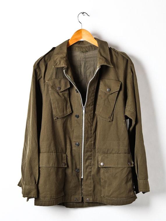 Vintage Italian Mens army field jacket