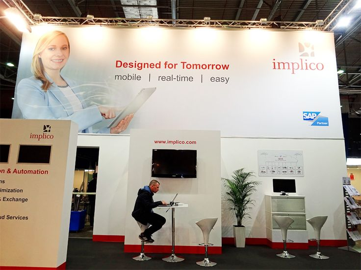 The final Implico stand at the evening before the StocExpo has started