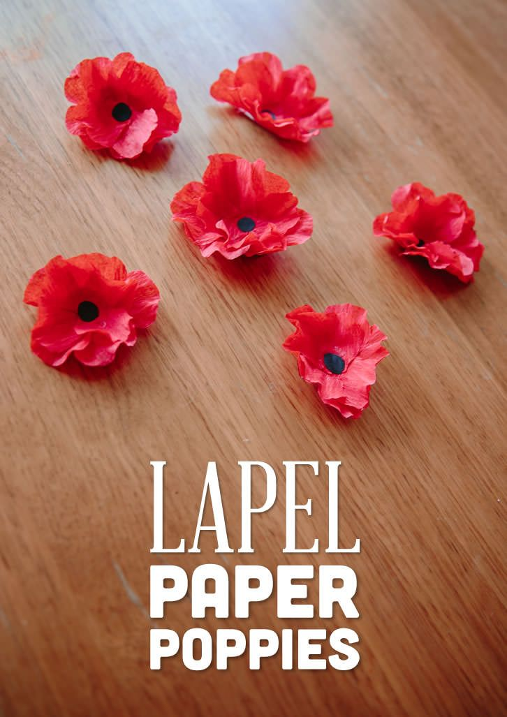 # Remembrance Day - November 11 # Lovely and simple to make paper lapel poppies. Perfect for seniors to make and wear for Remembrance Day. Video instructions included!
