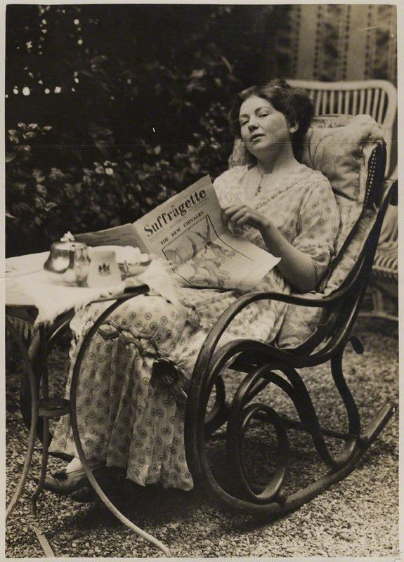 Dame Christabel Pankhurst By Record Press Glossy bromide press print, September 1913