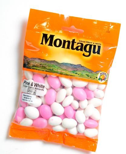 Pink & White sugar coated almonds