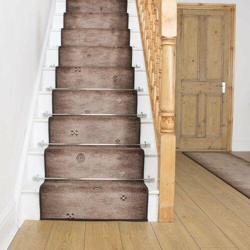 Best Almada Brown Stair Runner Rug Rosalind Wheeler Rug Size 400 x 300