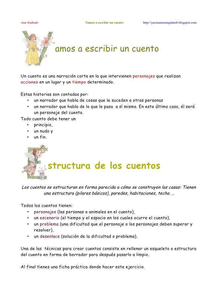 Vamos a escribir un cuento. A Galindo by Palabras Azules y LunáTICos 2.0 via slideshare