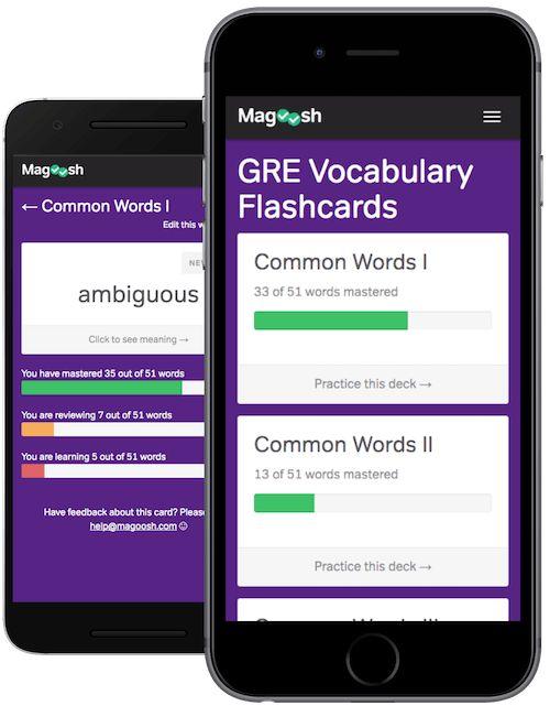 Free GRE Vocabulary Flashcards - Magoosh GRE