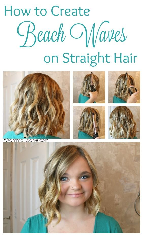 How to Create Beach Waves on Straight Hair. Step by step hair tutorial on how to use a curling iron to add beachy waves to very straight hair.  #wholeblends ad