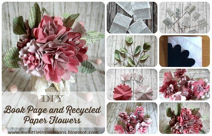 Idea per riciclare le salviette salvacolore usate: come fare dei fiori di carta, tutorial con spiegazioni e modello da stampare.
