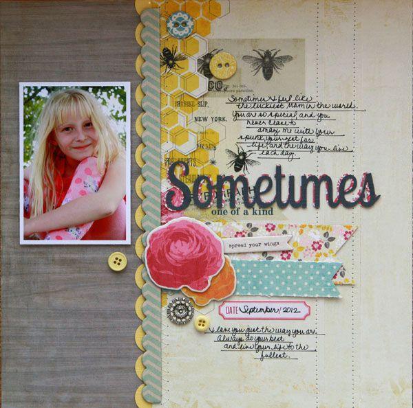 Davinie Fiero: Scrapbooking, Mrs., Paper, Layouts, Eye, Honey