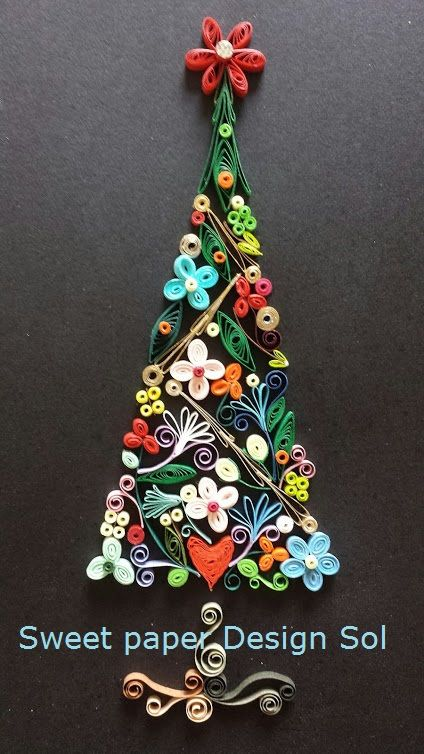 Paper Christmas Tree Wall Decoration : Best lo que puedes hacer con el origami yquilling