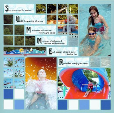 Mosaic Moments - Summer splash page with step down journal boxes