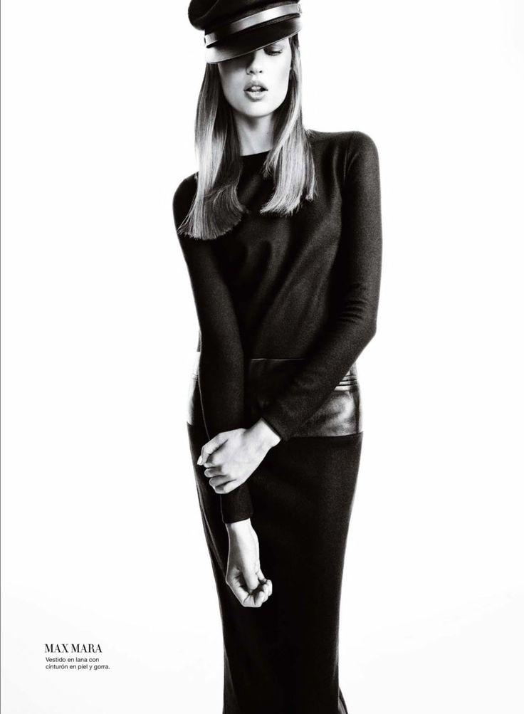 Bette Franke Goes to the Dark Side for Harpers Bazaar Spain October 2012