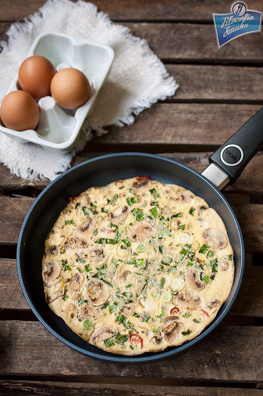 Frittata z pieczarkami/Mushroom Frittata