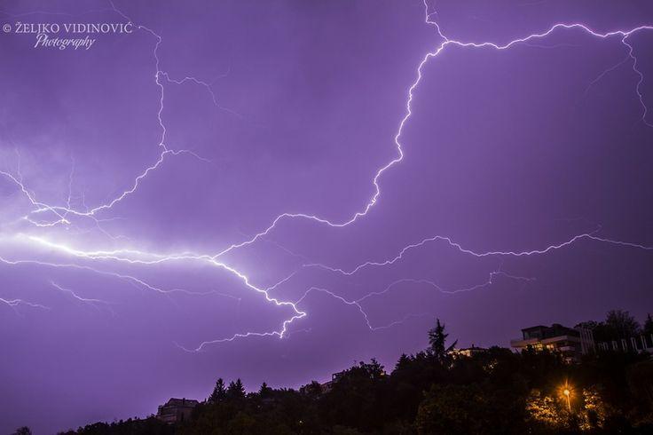 Lightning Ičići (Croatia) by Željko Vidinović on 500px