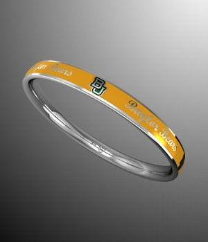 #Baylor Bears Gold Bangle Bracelet