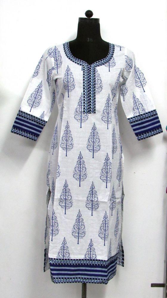 designer bollywood indian kurti ethnic kurta casual top S M tunic #Nisha #IndianKurtakurti