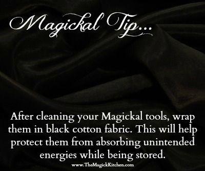 The Magick Kitchen Black Fabric Magickal Tips