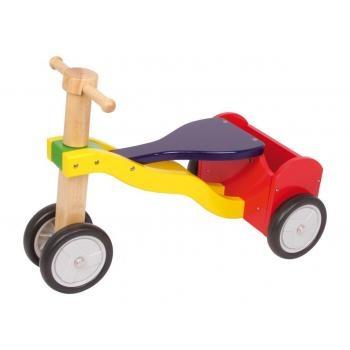 Triciclo con ruote in gomma.