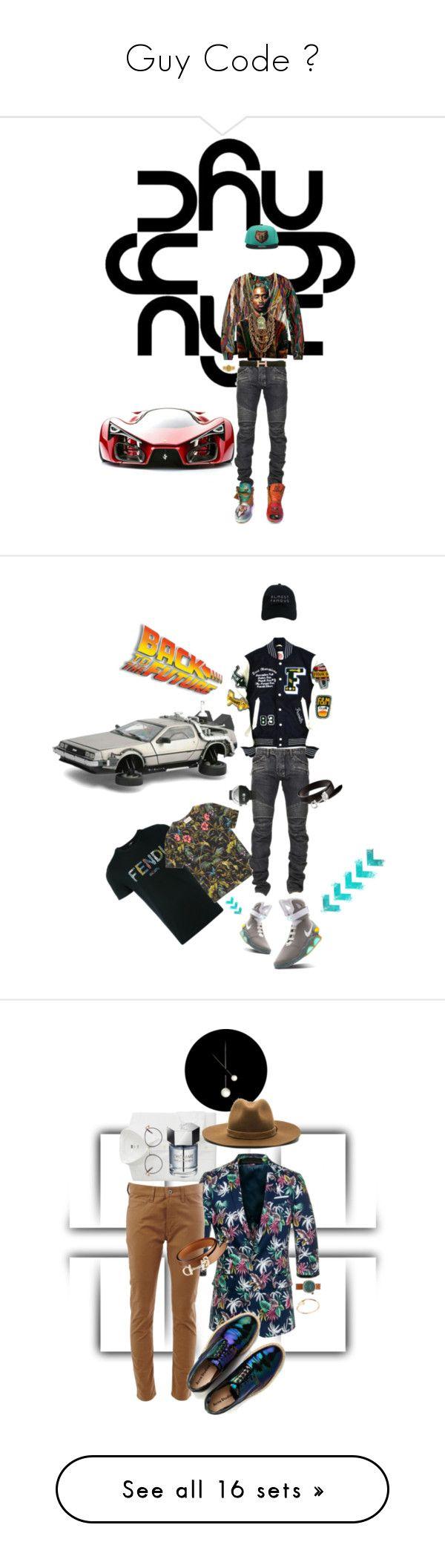 """Guy Code 🔐"" by foreverfreshie ❤ liked on Polyvore featuring Balmain, Hermès, men's fashion, menswear, Fendi, Gucci, Nasaseasons, Klokers, NikeAirMag and Uniqlo"
