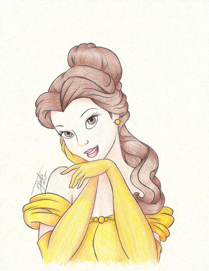 Картинки для срисовывания принцессы дисней