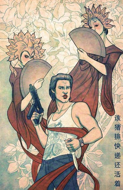 Variant cover art by Jenny Frison for 'Big Trouble In Little China' #15 from Boom! Studios