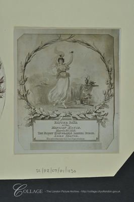 """Mansion House: Ticket to the Easter Ball given by Samuel Birch, Lord Mayor of London, at his official home. """"No admittance until half-past nine."""" 1815"""
