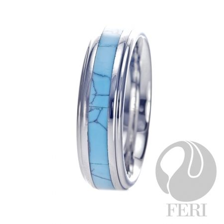 FERI Plangsten - Ring - Plangsten ring - Shell inlayed - Dimension: 7mm (Width)  FERI Tungsten, Plangsten and Hi-Tech Ceramic collections are unique with deep luster from within. The flawless features and indestructible nature of FERI Tungsten, Plangsten and Hi-Tech Ceramic pieces will create an everlasting beauty and confidence.   www.gwtcorp.com/ghem or email fashionforghem.com for big discount