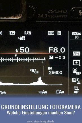 Welche Kameraeinstellungen als Grundeinstellung wählen? Bei einer neuen Kamera steht man oft vor dem Problem, dass so viele Dinge eingestellt werden können. Wir geben ein paar Tipps, welche Einstellungen für den Start sinnvoll sind.