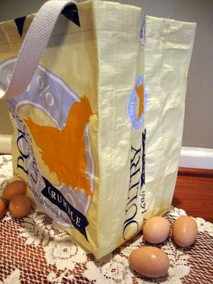 DIY Make your own Feed Bag Market Tote actual Tutorial | Fresh Eggs Daily®
