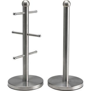 Buy Satin Stainless Steel Mug Tree and Kitchen Towel Holder Set at Argos.co.uk - Your Online Shop for Towel and bag holders.