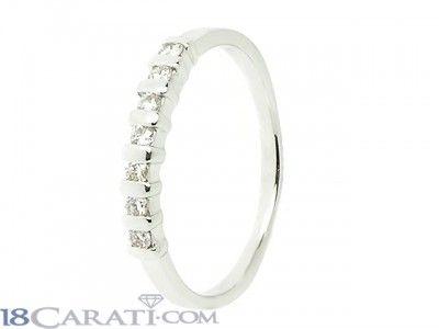 Anello 7 diamanti 0.16ct
